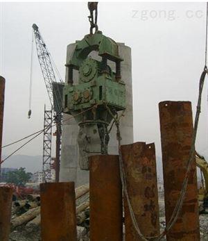 供应正基桩工机械,打桩锤下钢筋笼子|弹簧震动锤的使用范围