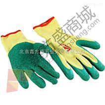 登升(DengSheng)粗黃紗浸膠手套